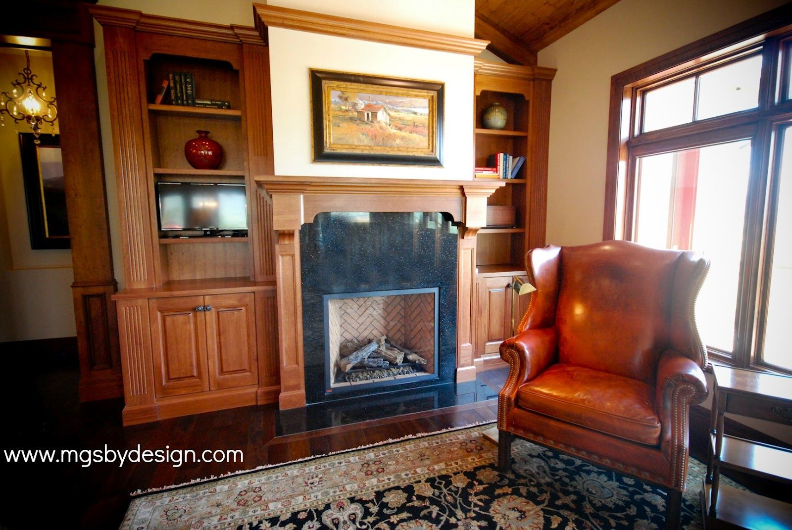 Galaxy Black Granite On The Fireplace Face And Hearth But With White Mantel Fireplace Facing White Mantel Granite Fireplace