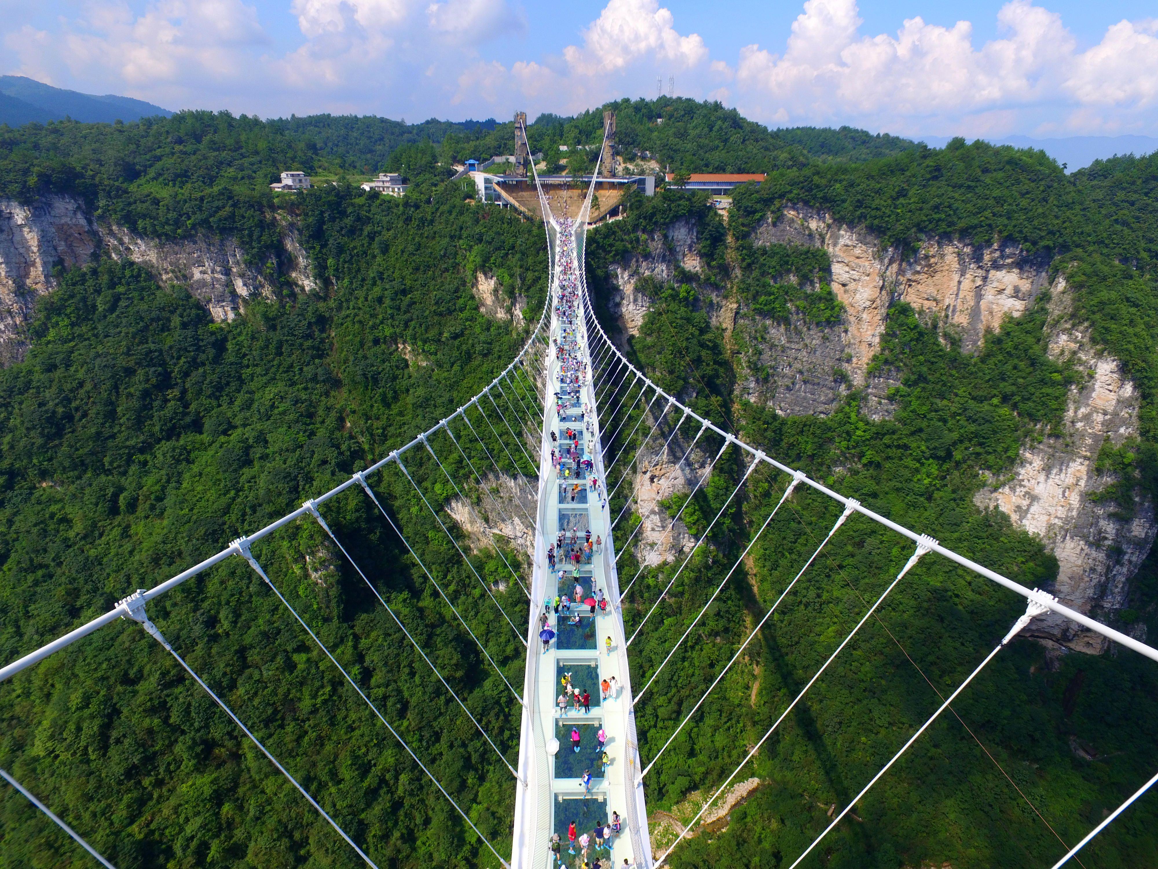 Zhangjiajie Grand Canyon Glass Bridge Glass Bridge China