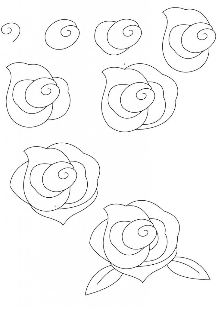 How To Draw A Rose Simple