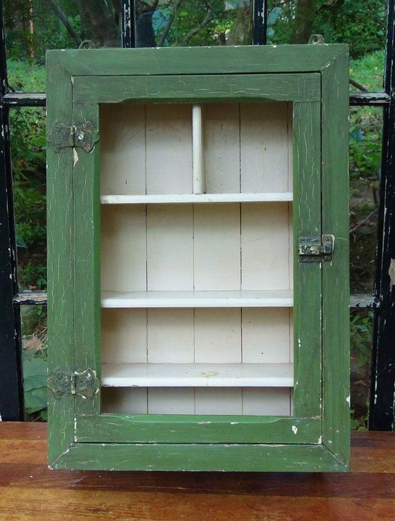 Antique Medicine Cabinet Wood vintage medicine cabinet / vintage medicine chest / bathroom cabinet