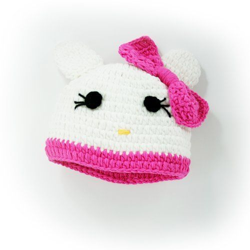 "Baby,toddleer, Crochet Baby Hat Beanie Hat Animal Hat Hello Kitty with Pink and White Color Hand Made with 100%milk Protein Cotton Yarn (Small:16""-18"") by FLORA'S Crochet, http://www.amazon.com/dp/B00A7QT8IM/ref=cm_sw_r_pi_dp_dX3Uqb1B1APC6"