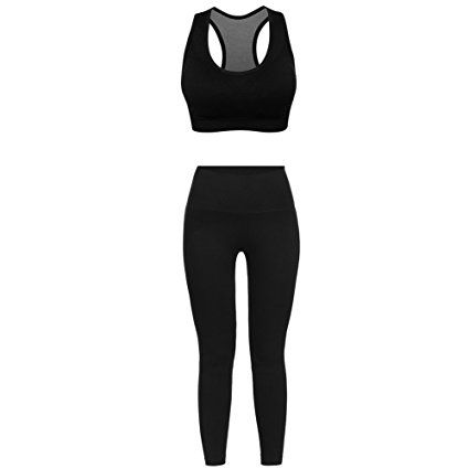 2cf70079745 FITIBEST Sport Suits Sports Bra Yoga Pants Gym Outfits Breathable Exercise  Bra and Leggings for Women