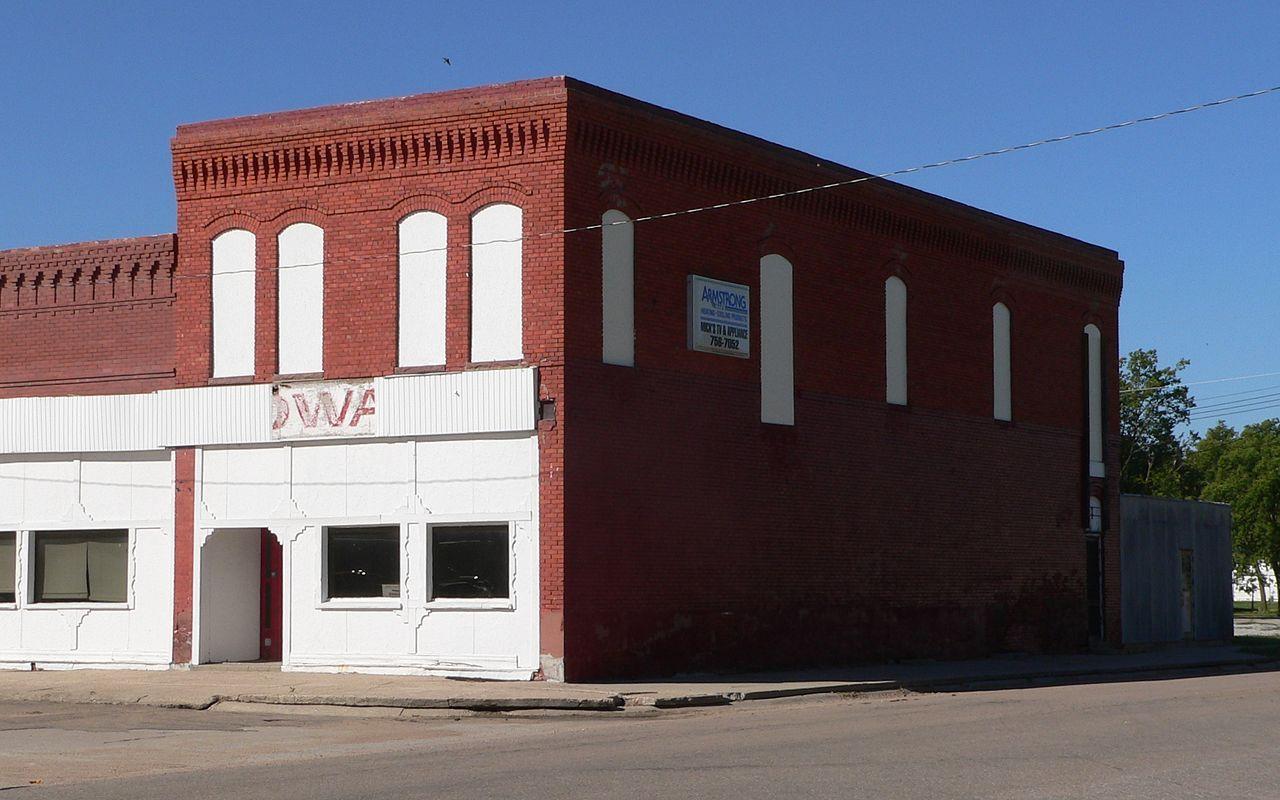 Lawrence Opera House in Nuckolls County, Nebraska.