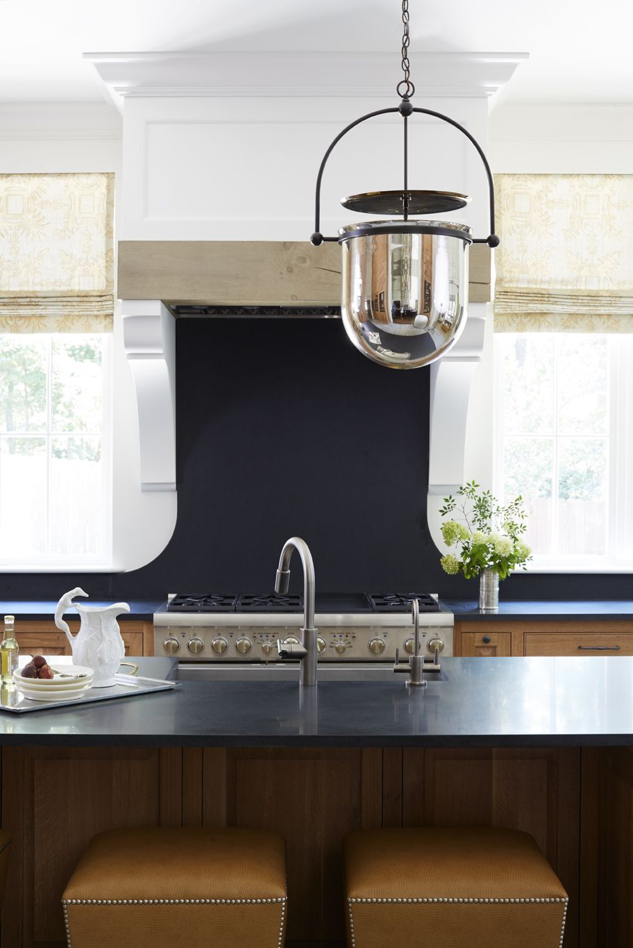 Shayelyn Woodbery Interiors   Maple kitchen cabinets ... on Maple Cabinets Black Countertops  id=85106