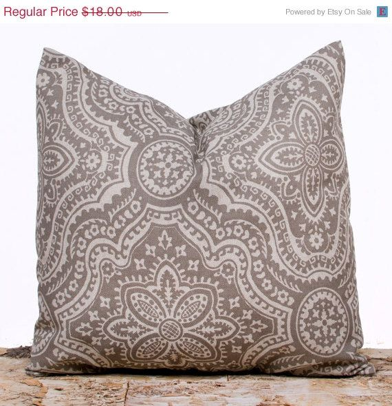 SALE ENDS SOON Brown Maze Throw Pillow Covers Brown by LilyPillow