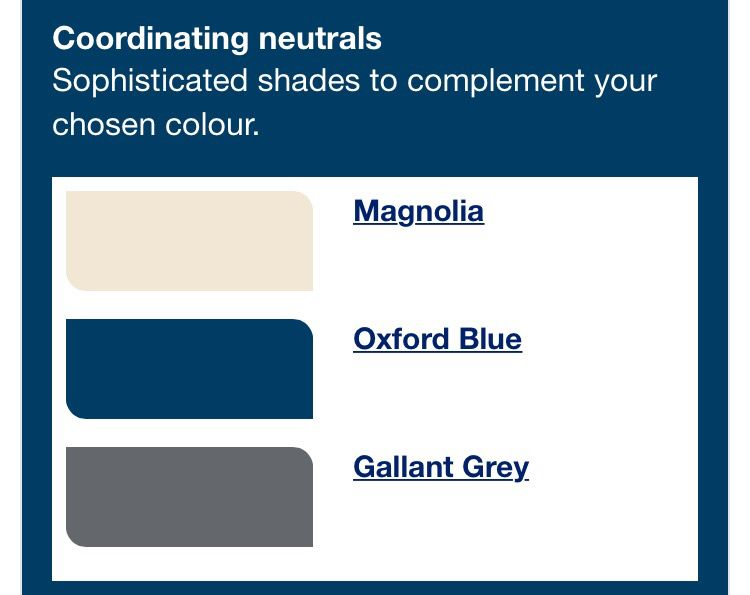More dulux paint colours oxford blue for Shades of neutral colors