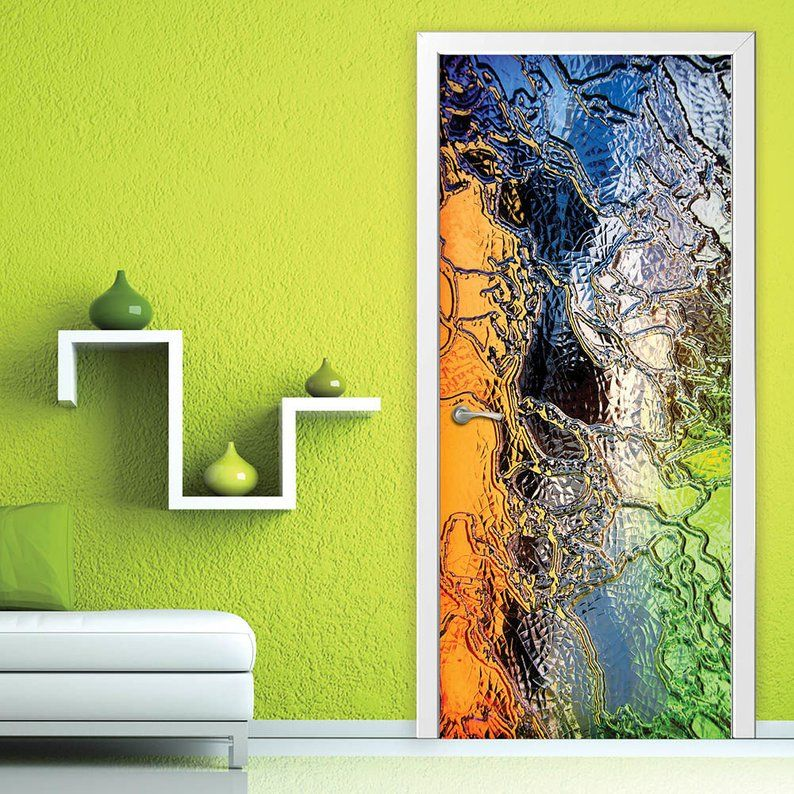 Door wall sticker stained glass selfadhesive vinyl
