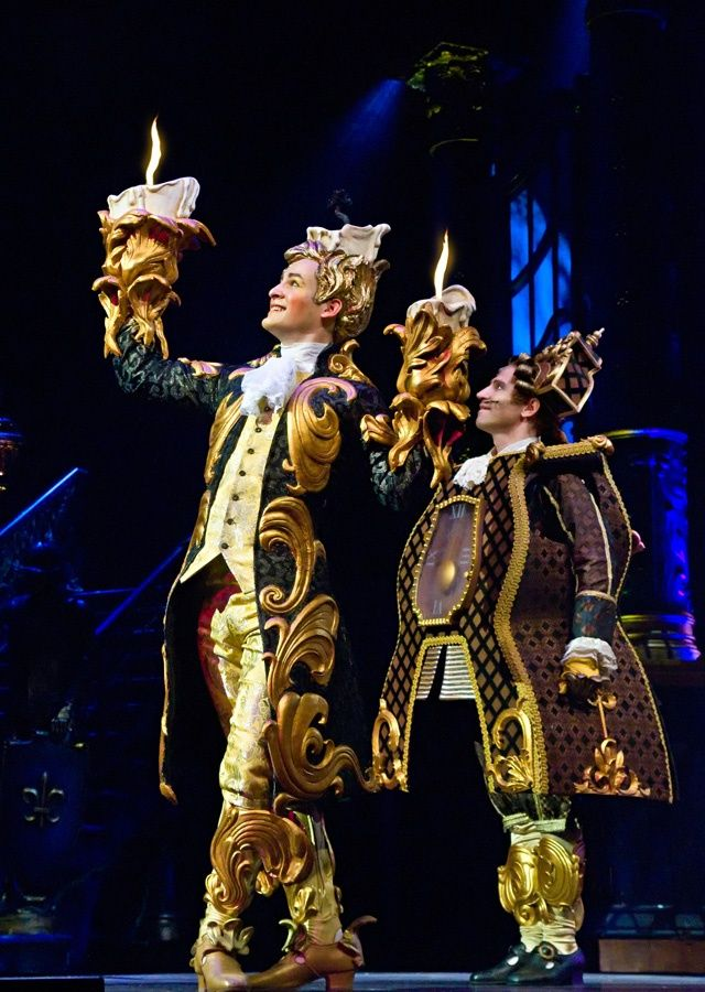 Lumiere And Cogsworth Beauty And The Beast On Stage Stage Broadway Beautyandthebeast Beauty And The Beast Beauty And The Beast Costume Beast Costume