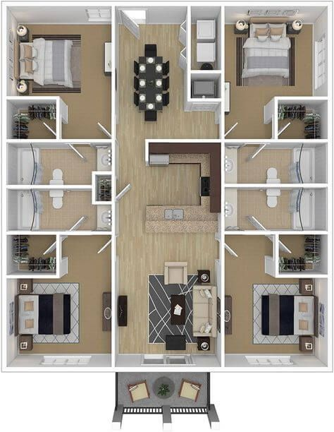 3d Plan Top View Amazing Ideas Engineering Discoveries In 2020 House Layout Plans House Plans Small House Design Plans