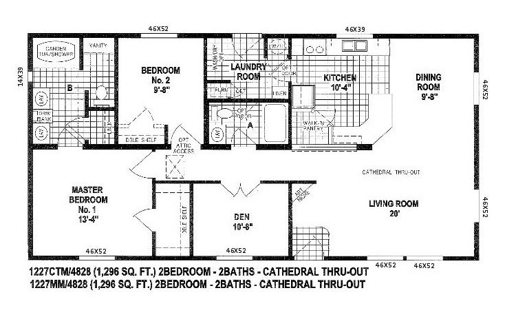 Skyline Triple Wide Floor Plans | Floor Plans For Double Wide Manufactured  Homes Double Wide Mobile