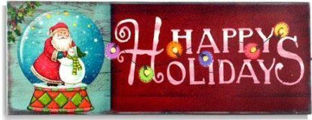 StealStreet SSUGMNA128 LED Light Up Holiday Christmas Wall Sign Happy Holidays -- Click image to review more details.