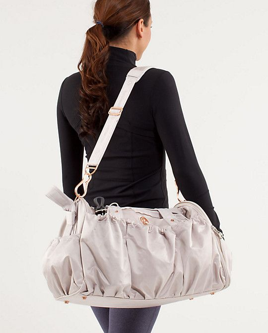 ba58dd276332 Lululemon Legendary Duffel... its just as beautiful (hard to see from the  photo but there s a subtle floral print + rose gold...my fav!) in person!