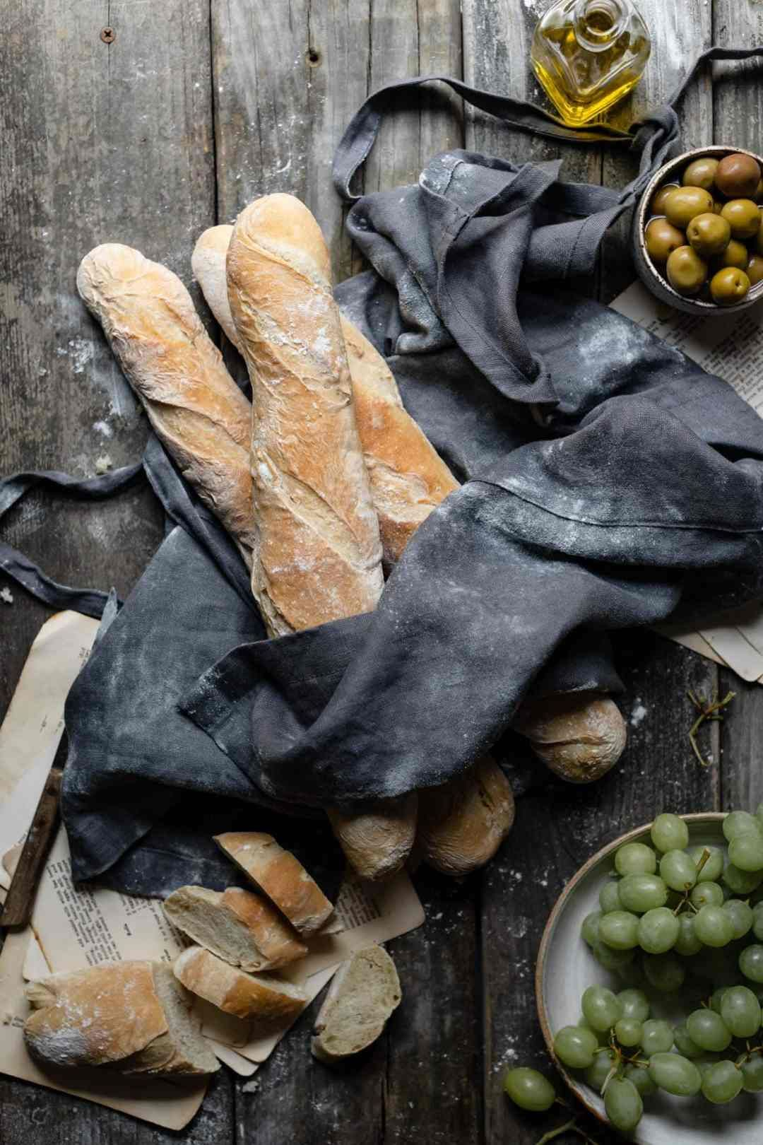 How to Make Homemade French Baguettes | Two Cups Flour ...