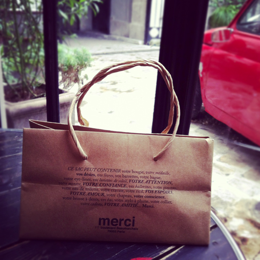 paper bag from Merci