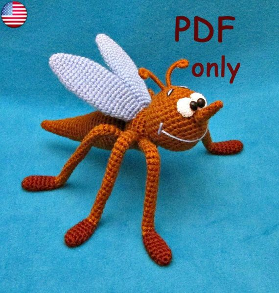 Crochet pattern - Mosquito amigurumi insect animal   Amigurumi ...