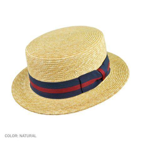 Jaxon Hats Striped Band Wheat Straw Skimmer Hat Straw Hats Jaxon Hats Hats For Men Straw Hat