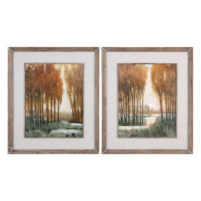 Uttermost Custom Forest Landscape by Grace Feyock 2 Piece Framed Painting Print Set