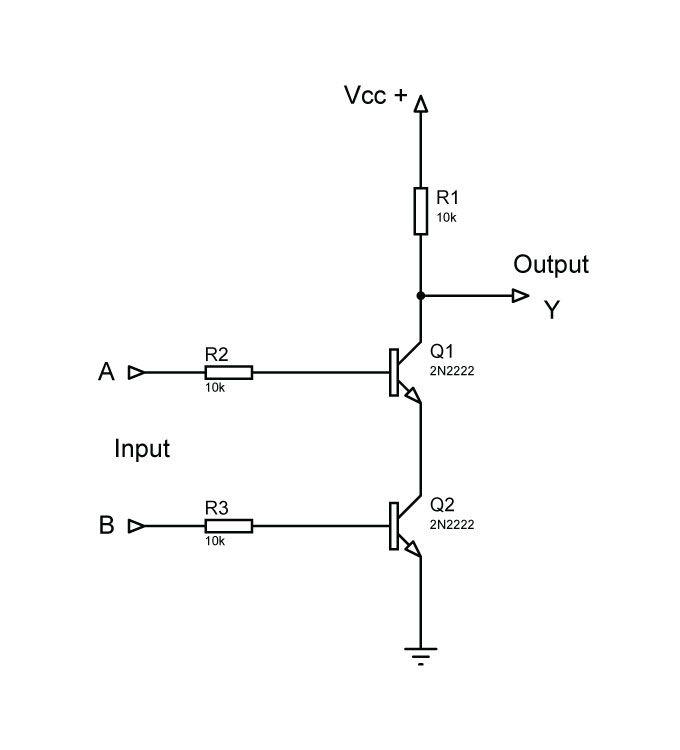 NOR-Gate-using-CMOS-circuit arduinotricks Pinterest Math, Gate