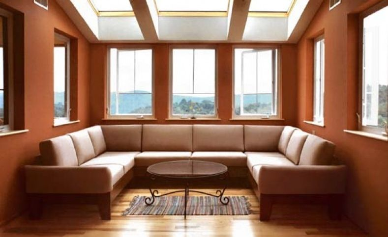 3 Sided Sectional Sofa Wood Sofa Contemporary Sofa Dream House