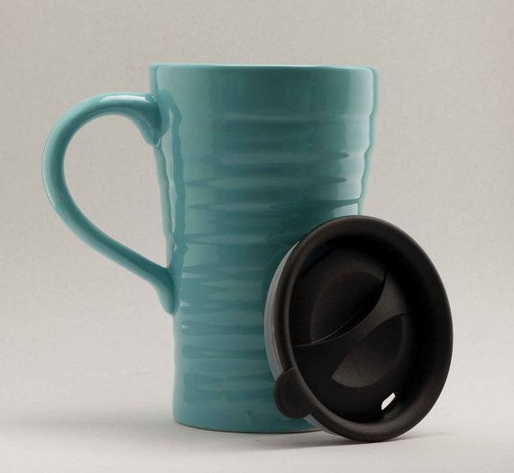 Ceramic Travel Coffee Mug Feels Like A Saay Morning Large Cup Of Handle Lid My Kinda I Can Face The Work Week With