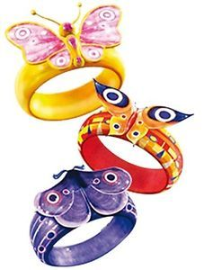 Mia And Me Set Of Magic Bracelet Rings Spielset Armreif Freundschaftsringe Fairy Birthday Party Friendship Rings Fairy Birthday