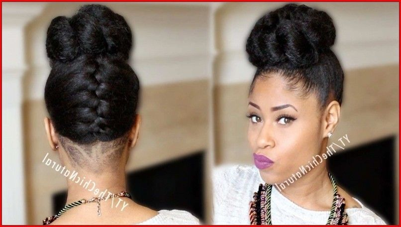 Casual Updo Hairstyles For Black Women African American Updo
