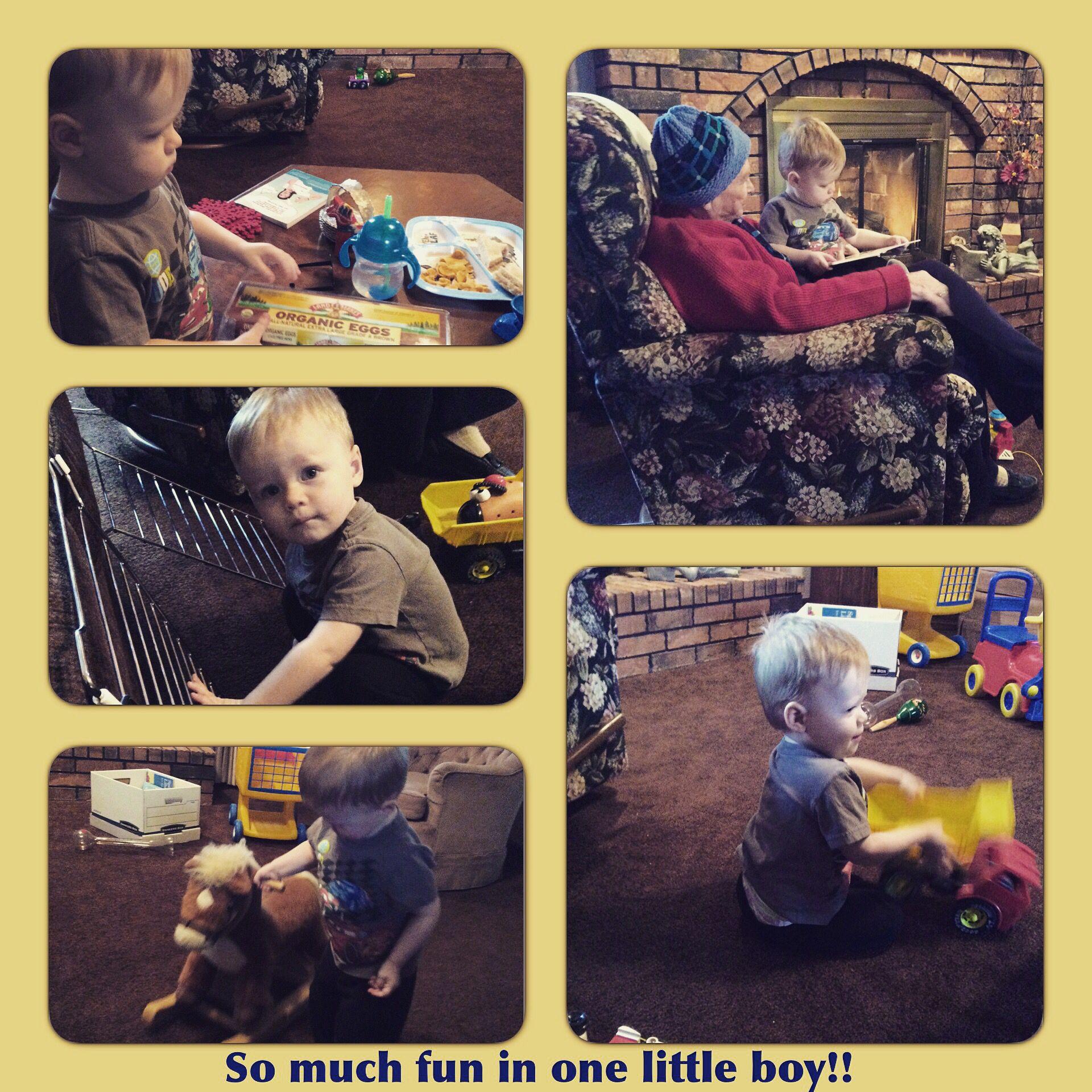 I love my grandson! Being blessed with precious memories..  #grandma #grandson #grandparents #love #family #boys #toys #trucks #exploring #horses #reading #books