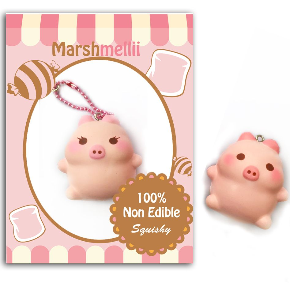 Homemade Squishy Collection It Z Just Cute : marshmelli piggie pre order squishy marshmallow pig creamiicandy squishy