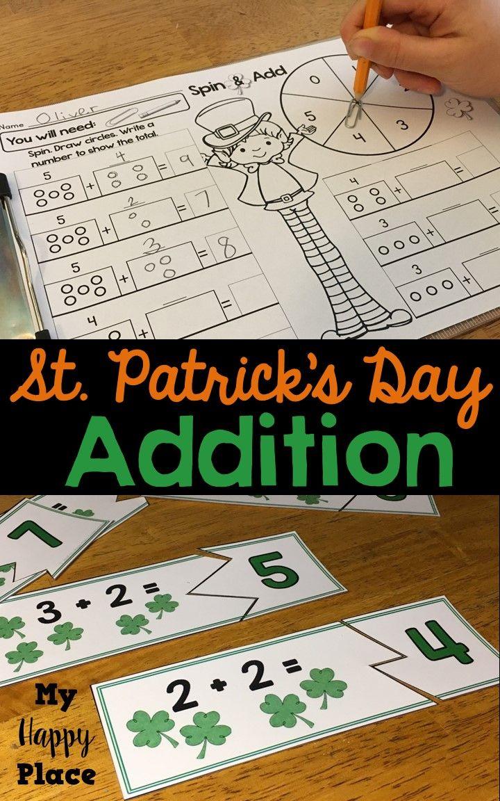 St. Patrick\'s Day Addition   Addition activities, Kindergarten fun ...