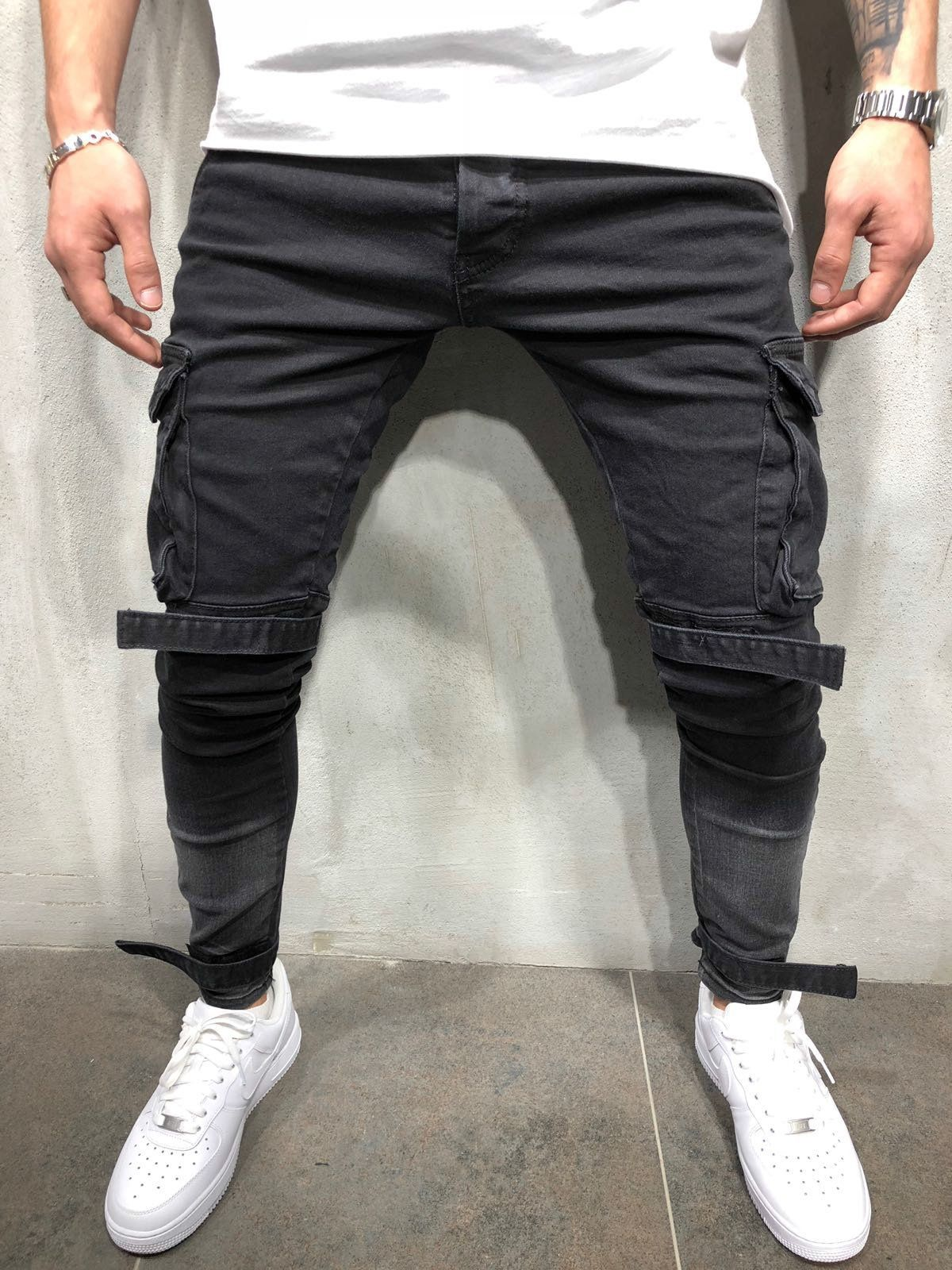 Fashion Slim Plain Packets Jeans Pants Kingboco Mens Fashion Edgy Hipster Mens Fashion Casual Denim Pants