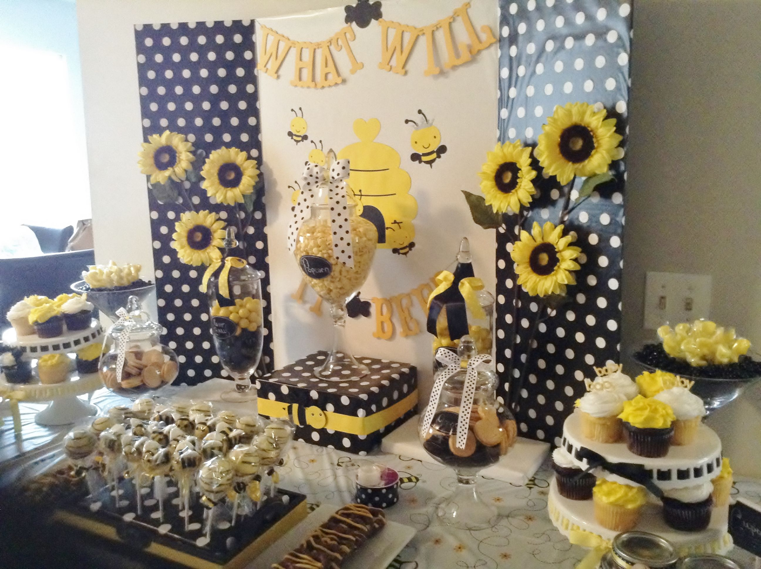 What Will It Bee, Gender Reveal, Bee Party, Bumble Bee Party. Bee  DecorationsBee Gender RevealBee Baby ShowersGender ...
