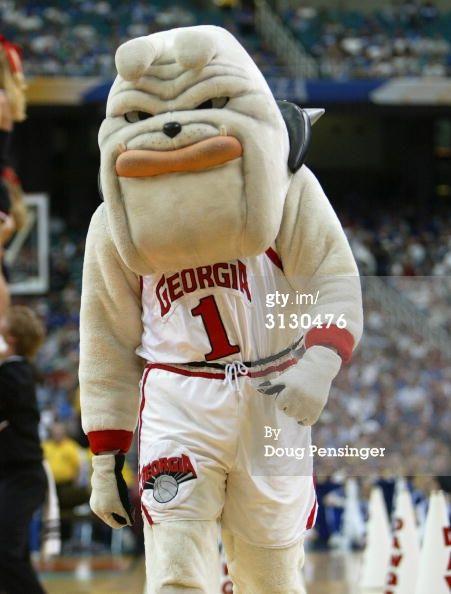 Georgia Bulldogs Mascot Hairy Dawg At A Uga Basketball Game
