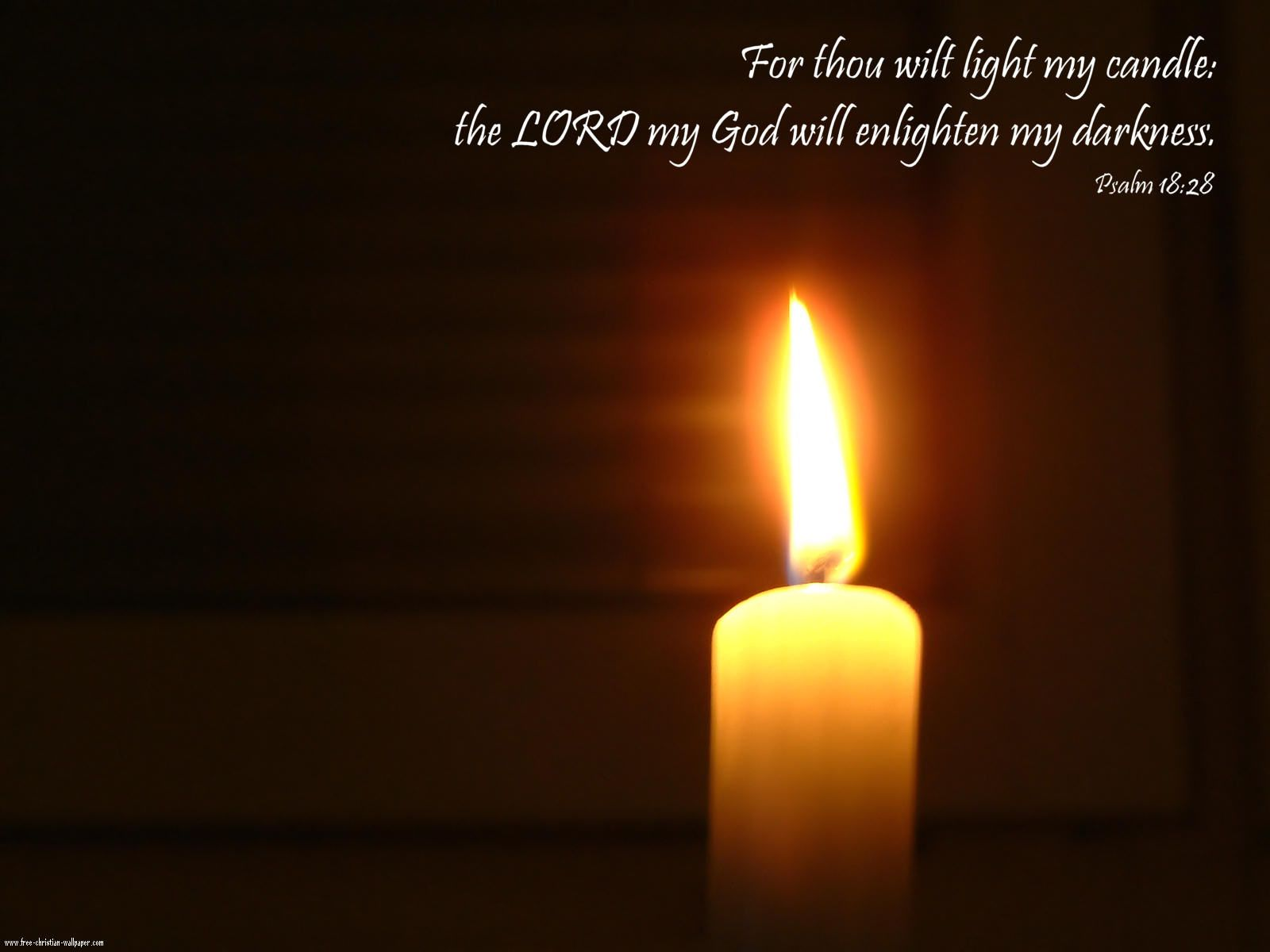 psalm for thou wilt light my candle the lord my god will enlighten my darkness