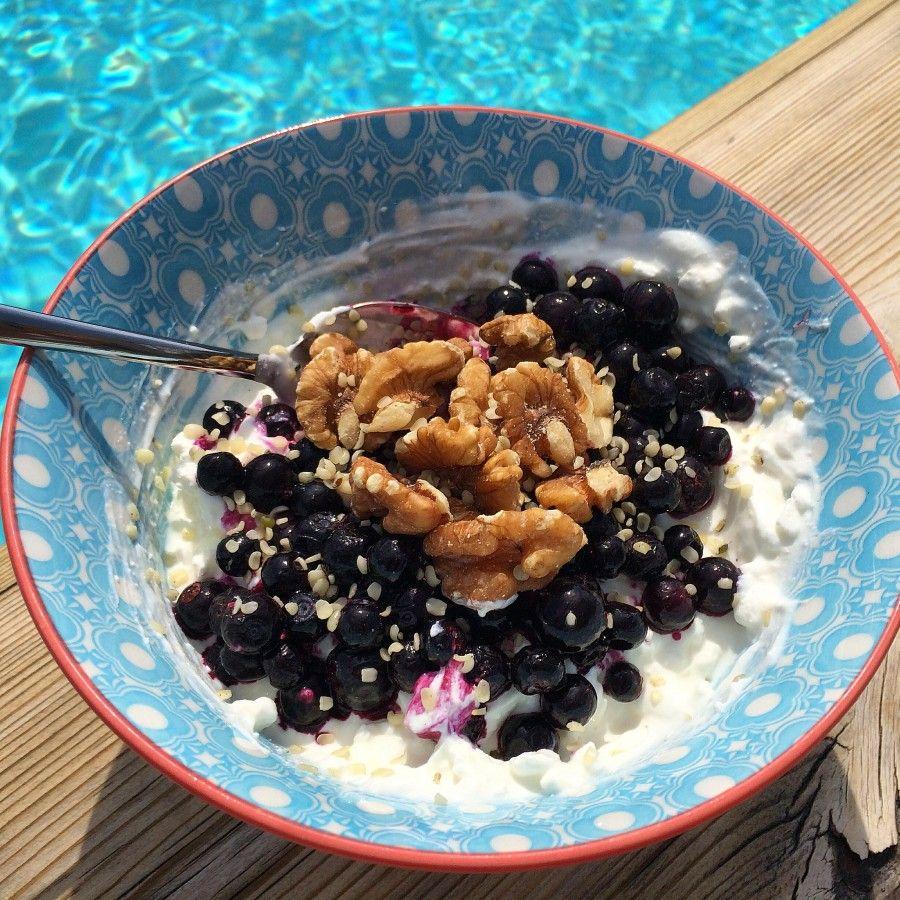 Kvarg, keso och blåbär #frukost
