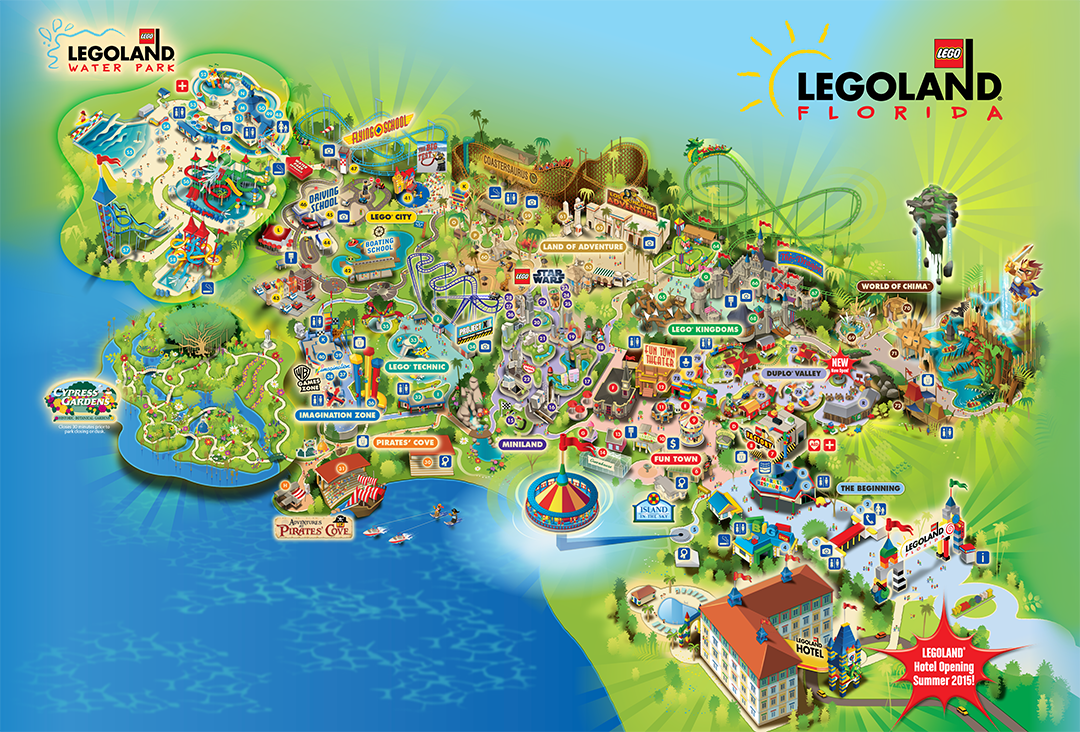 legoland florida is a 150 acre interactive theme park with more