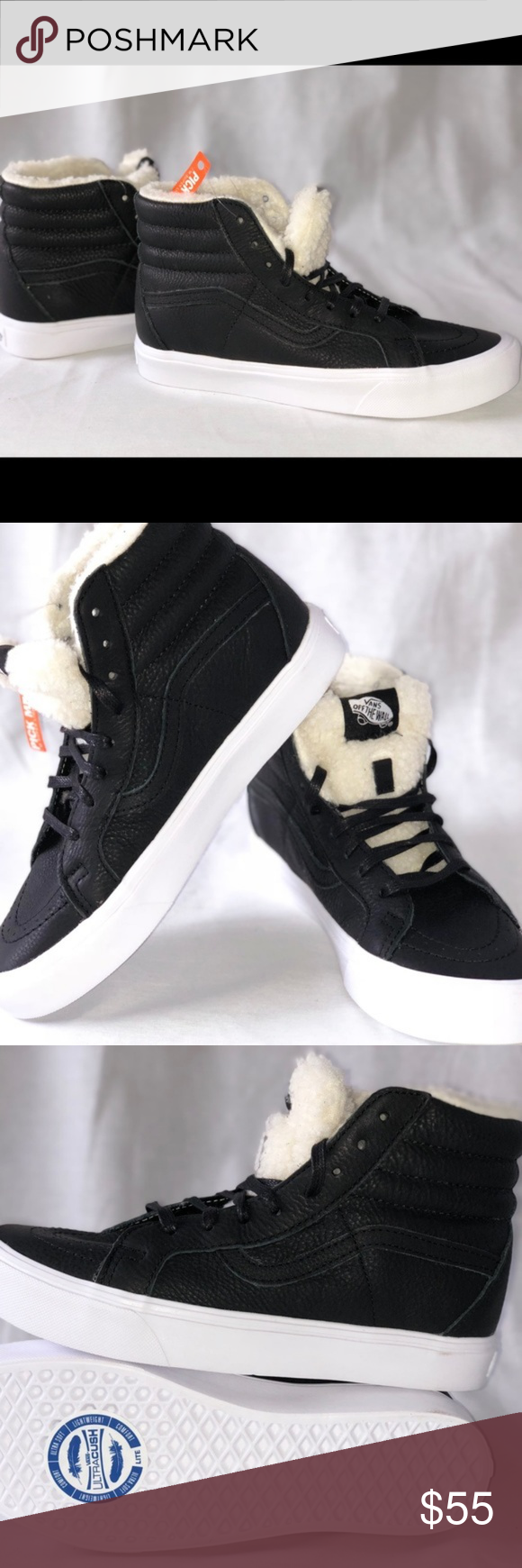 7e455eabef Vans SK8-Hi Reissue Lite (Sherpa) Black True White Vans SK8-Hi Reissue Lite  (Sherpa) Black True White. Condition  New with box. Size  Men s 10.5