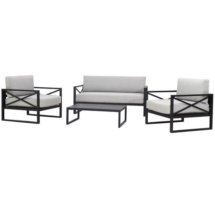 Cristobal 4 Piece Conversation Set Backyard Furniture