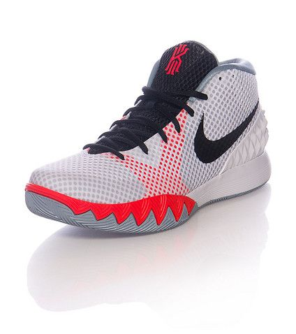 new style 6c3d3 0899e NIKE Kyrie Irving Mid top men s sneaker Lace up closure Mesh overlay NIKE  swoosh on sides Sharp tooth design midsole Padded tongue with Kyrie logo