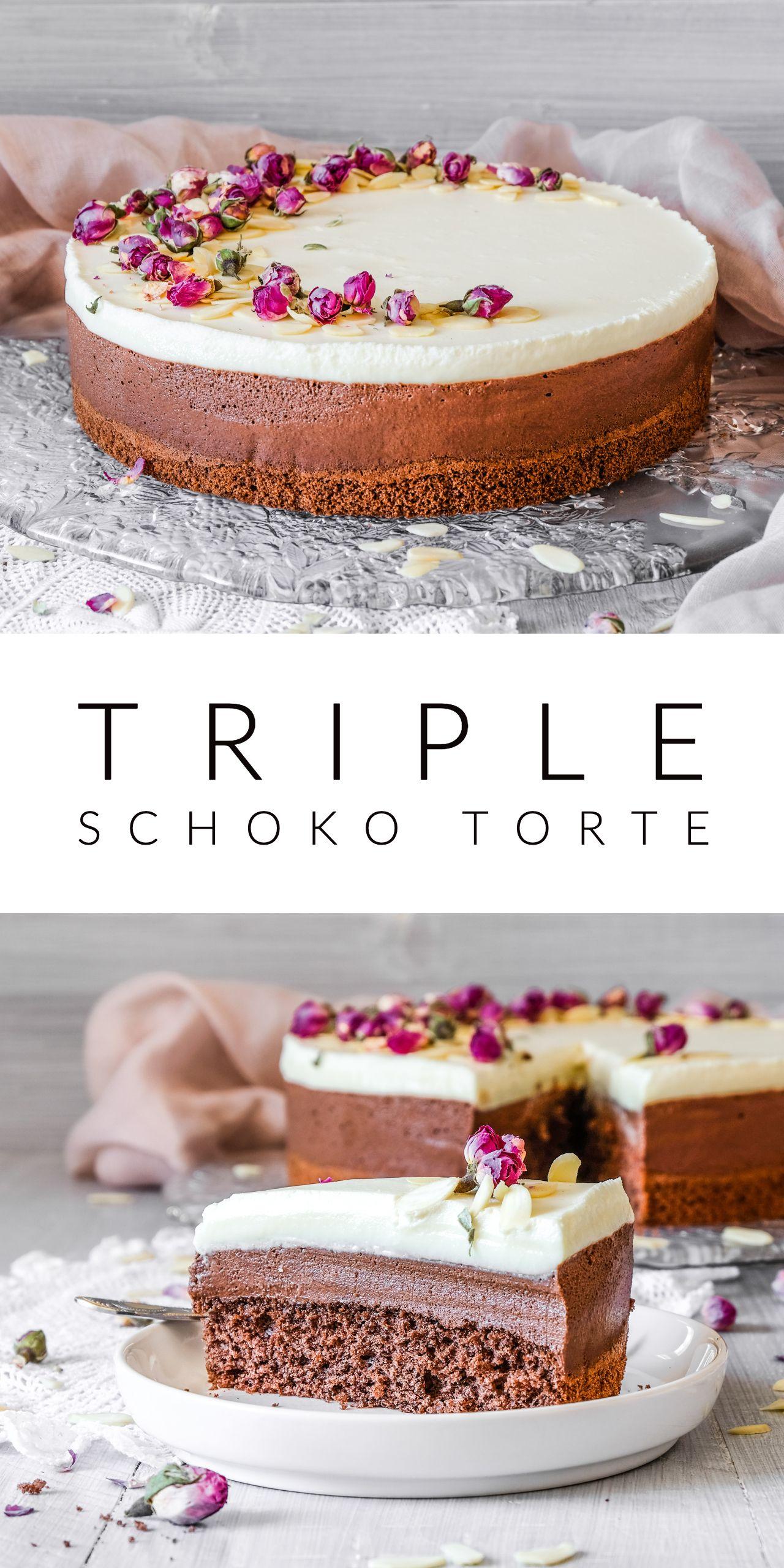 Triple Schoko Torte #schokokuchen