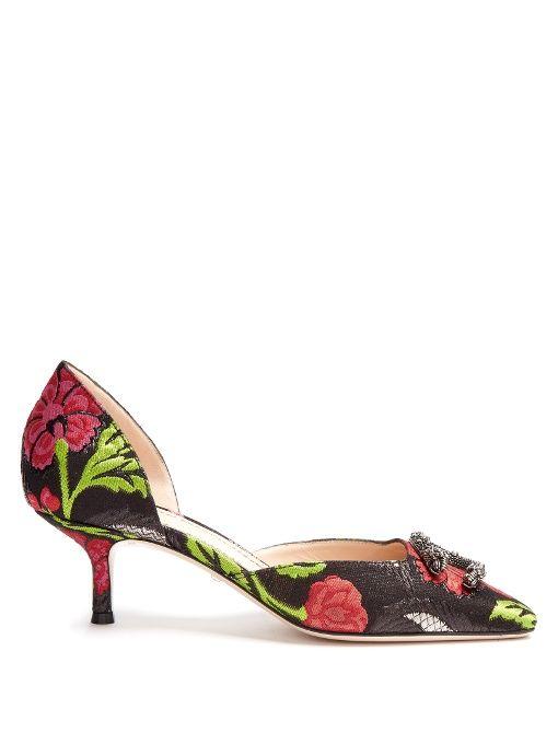 e4d2cbdb9 GUCCI Dionysus Jacquard Kitten-Heel Pumps. #gucci #shoes #pumps ...