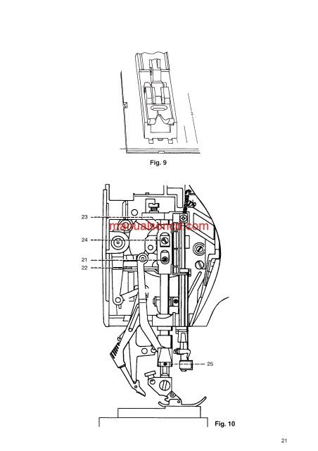 Pfaff 1520-1530-1540 Sewing Machine Service Manual