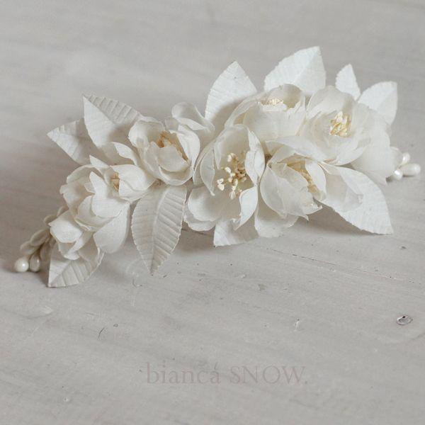 handmade flowers bianca snow