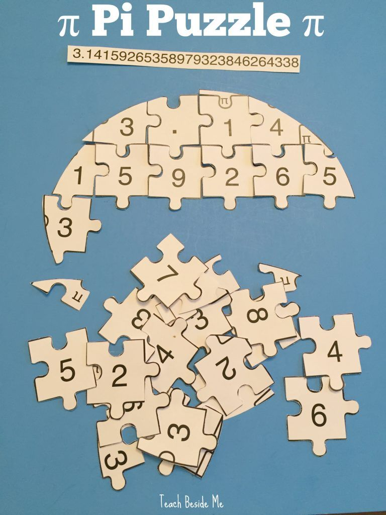 Printable Pi Puzzle for Pi Day | Pinterest | Pi math, Math and ...