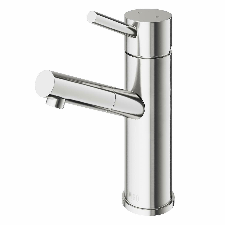 Vigo Noma Brushed Nickel Single Hole Bathroom Faucet Kitchen Faucets Ideas Of Single Hole Bathroom Faucet Bathroom Faucets Brushed Nickel Bathroom Faucets