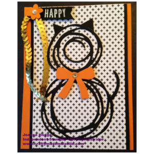 Learn how to make a black cat from the Stampin' Up! Swirly Scribbles thinlets. Just in time for Halloween or National Cat Day in the U.S.A.