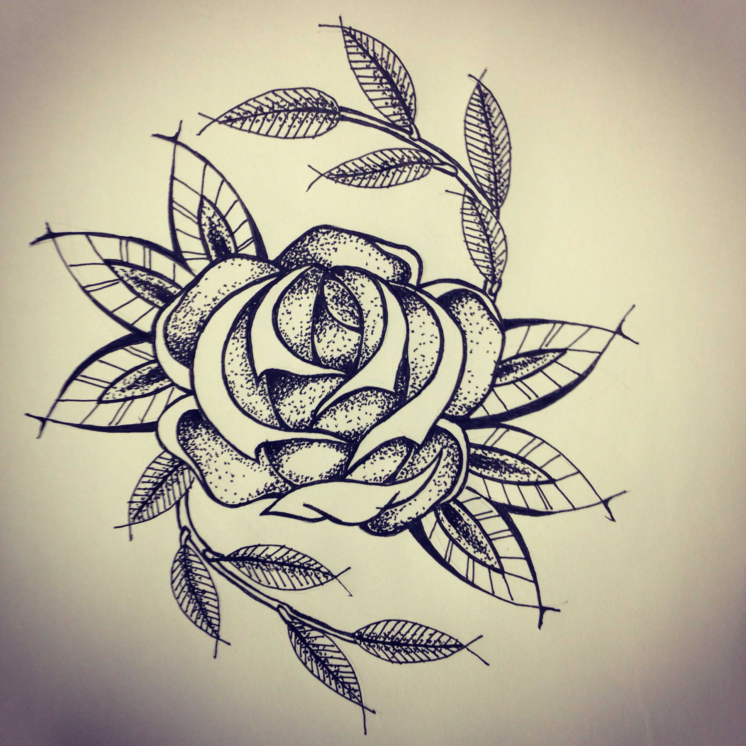 Tattoo Flash Line Drawing Converter : New traditional rose tattoo sketch by ranz pinterest
