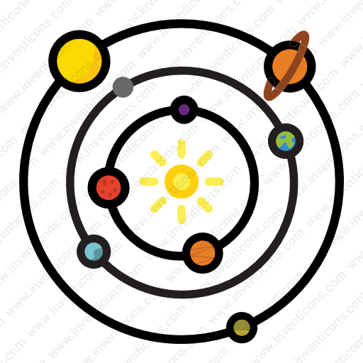 Download Solar System Vector Icon Inventicons Easy Drawings Space Icons Solar