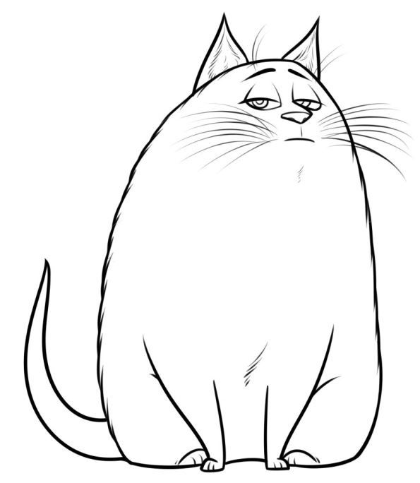 Coloring Page Secret Life Of Pets Chloe 2 In 2020 Secret Life Of