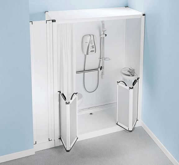 Shower toilet cubicle self contained shower pod with for Bathroom e pod mara