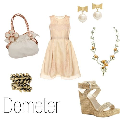 Fashion inspired by greek mythology | Character Inspired Fashion - Demeter | Hair u0026 Beauty that ...